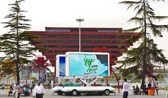 JCT was one of the officially designated supplier for LED advertising vehicle in 2010 Expo