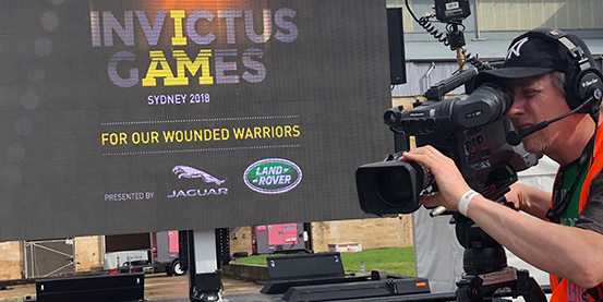 """Jingchuan EF-16 LED mobile trailer meet Prince Harry in Sydney """"Invictus Game"""""""