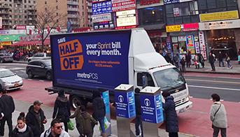 Mobile LED Billboard Truck