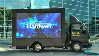 Experiential marketing LED billboard truck