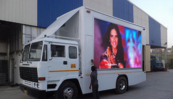 Mobile LED display screen Van