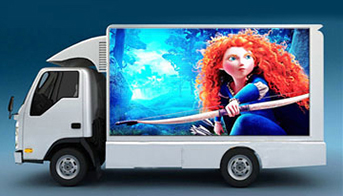 Publicity on Wheels of Mobile Led Van
