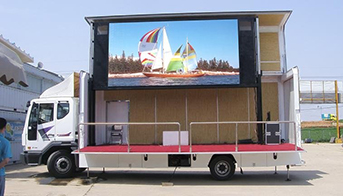 Digital video LED display truck