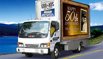 Mobile LED billboard trucks
