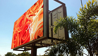 What is advantage for large outdoor LED display boards?
