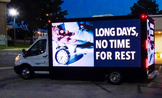 Midsize LED Billboard Trucks