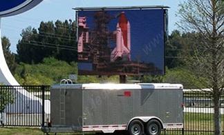 High resolution truck mounted screen