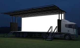 Custom event and exhibition trucks