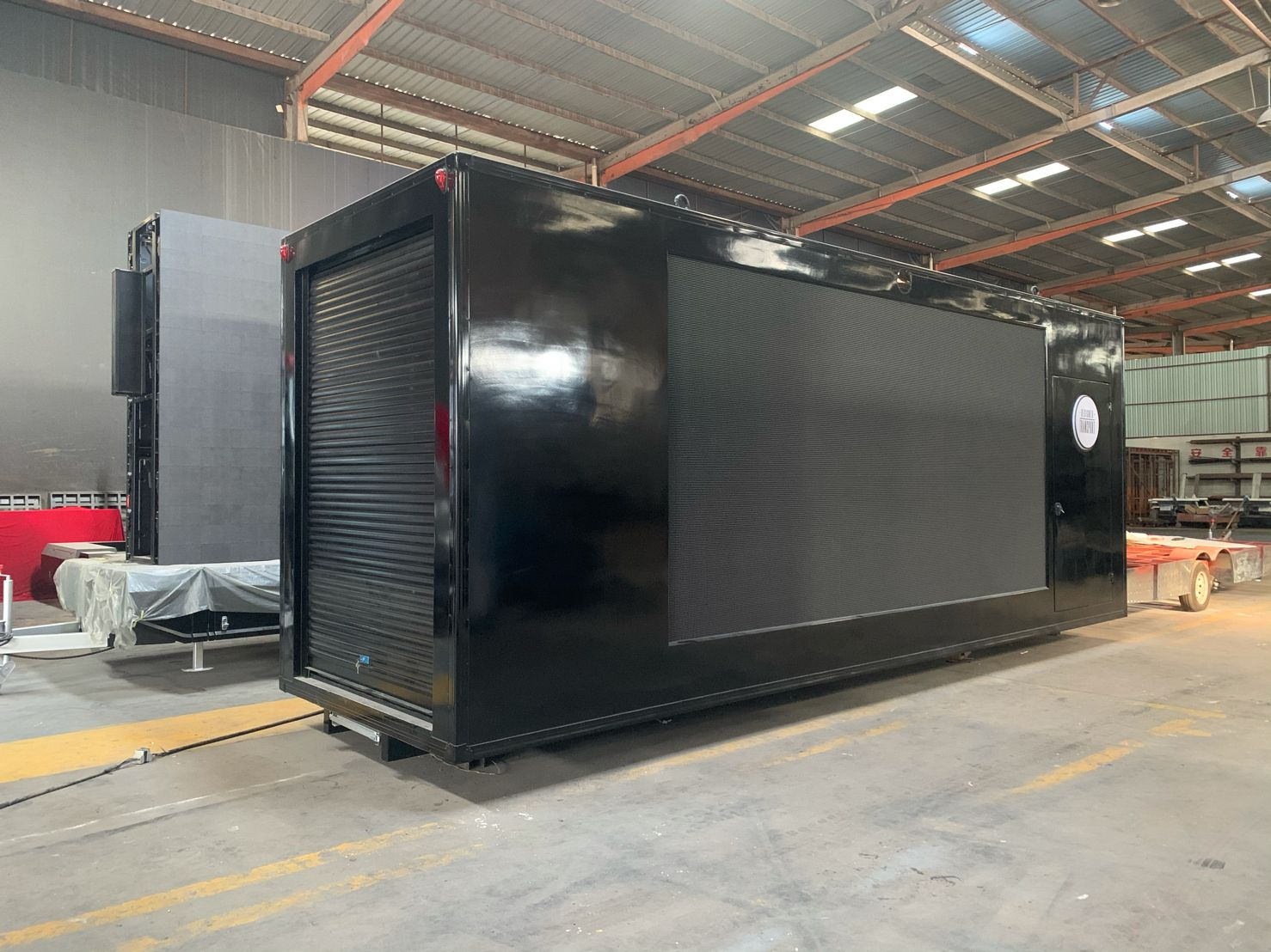 LED truck display cargo box exported to australia