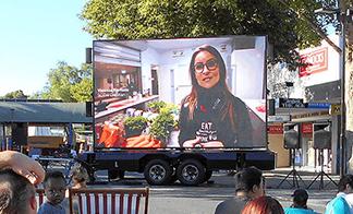 Mobile LED screens for digital advertising